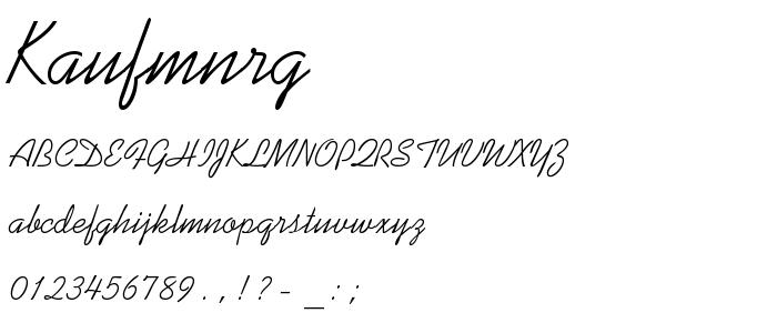 Kaufmnrg font