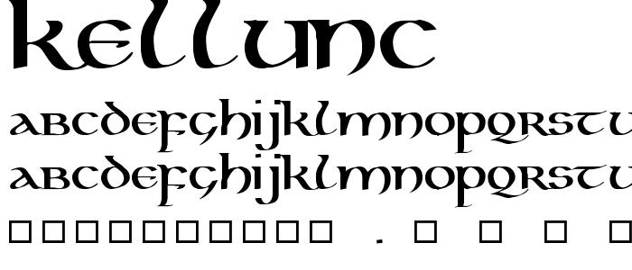 Kellunc font
