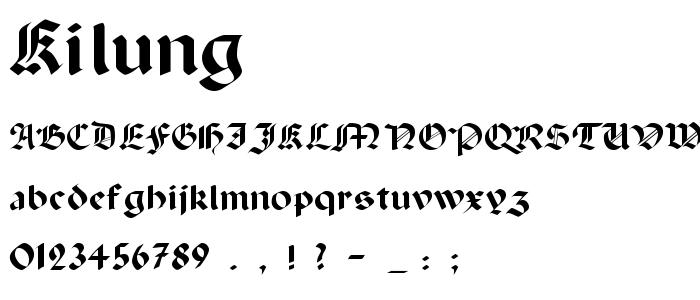 Kilung font