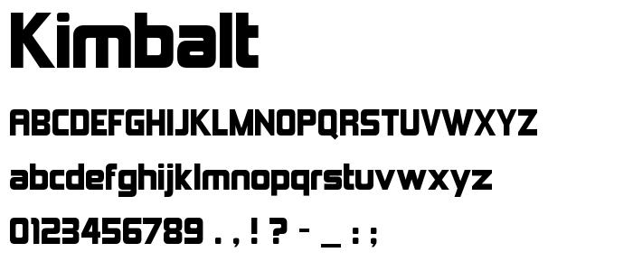 Kimbalt font