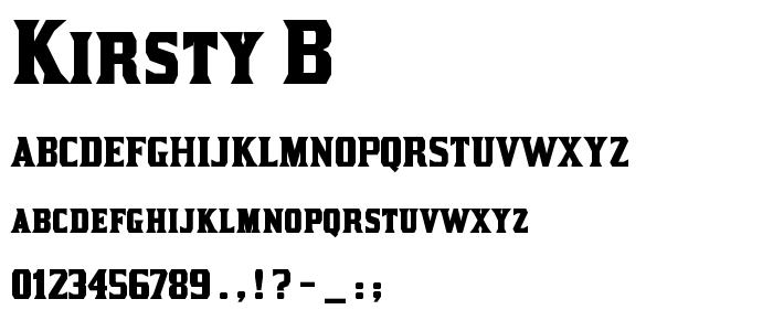Kirsty B font