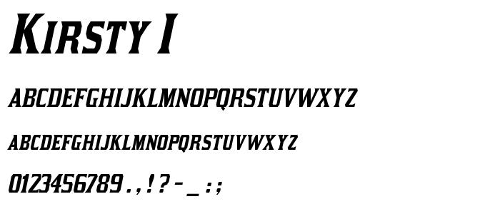 Kirsty I font