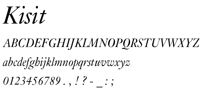 Kisit font