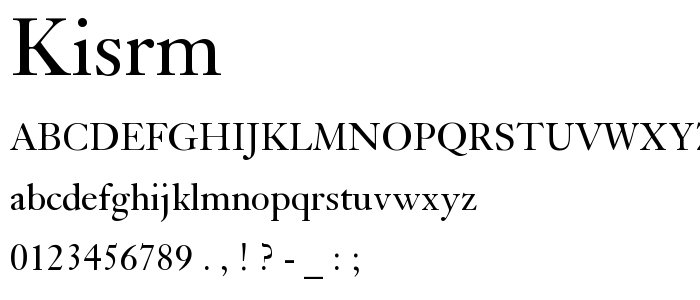 Kisrm font
