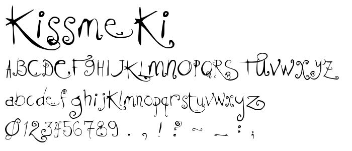 Kissmeki font