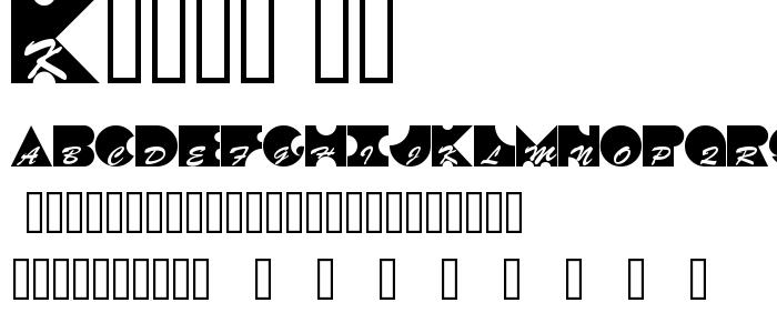 Kontrast font