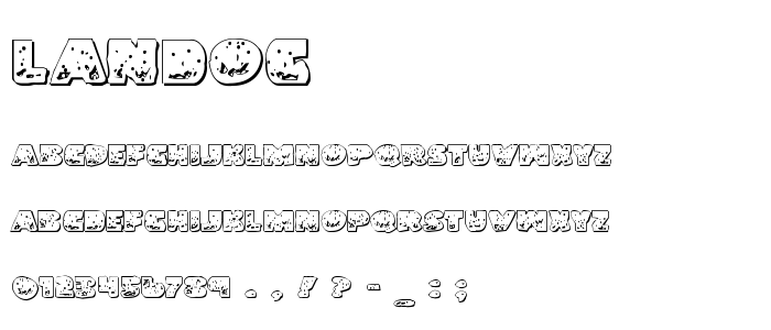 Landog font