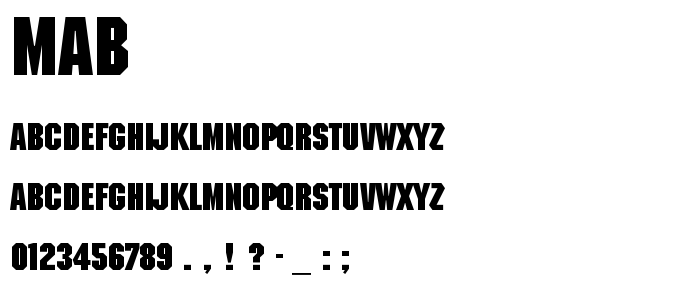 Mab font