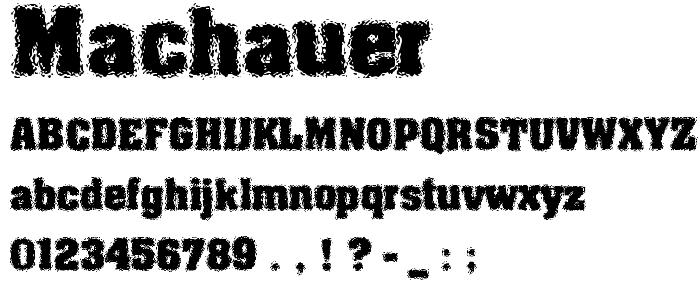 Machauer font