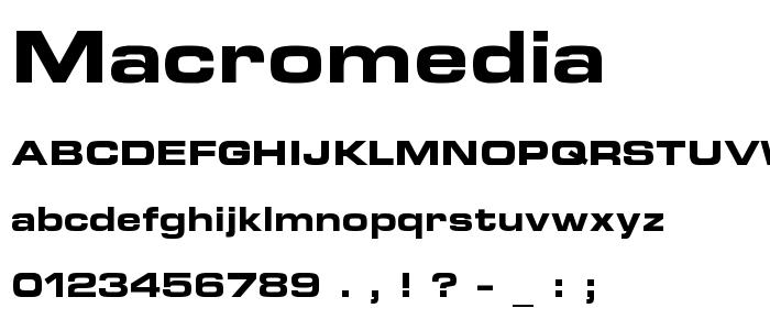 Macromedia font