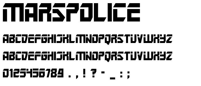 Marspolice font