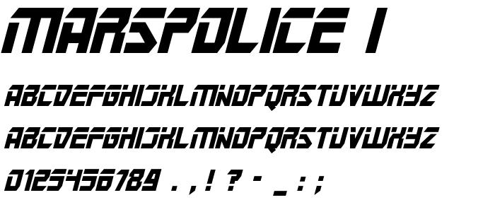 Marspolice I font