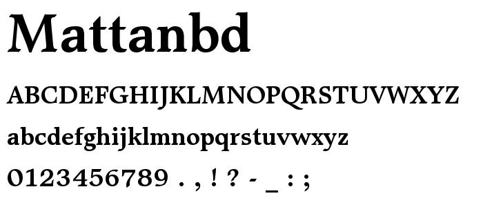 Mattanbd font
