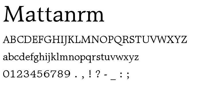 mattanrm.ttf font