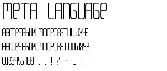 Meta Language font