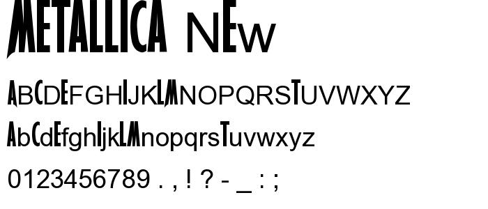 letter type metallica