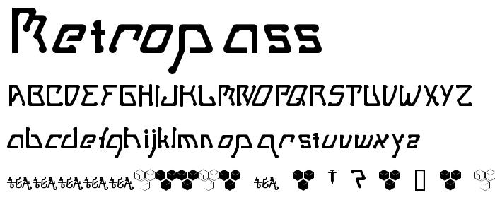 Metropass font