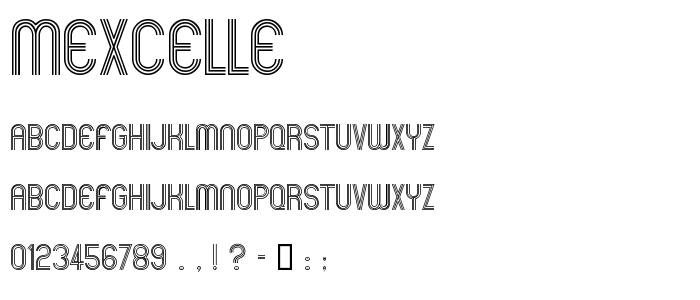 Mexcelle font