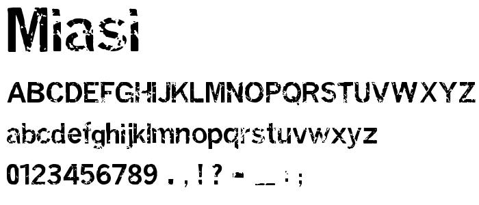 Miasi font