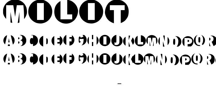 Milit font