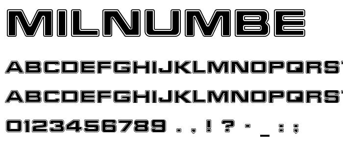 milnumbe.ttf font
