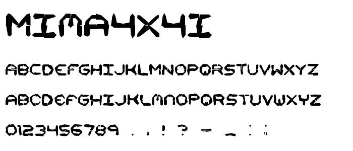 mima4x4i.ttf font