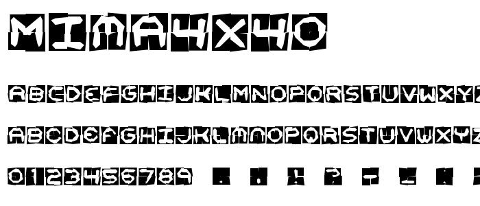 mima4x4o.ttf font