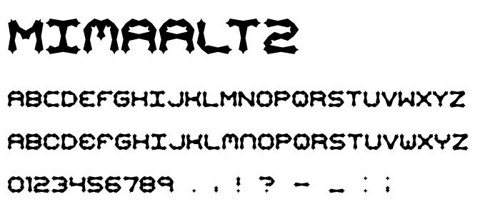 mimaalt2.ttf font