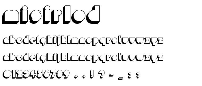 Misirlod font