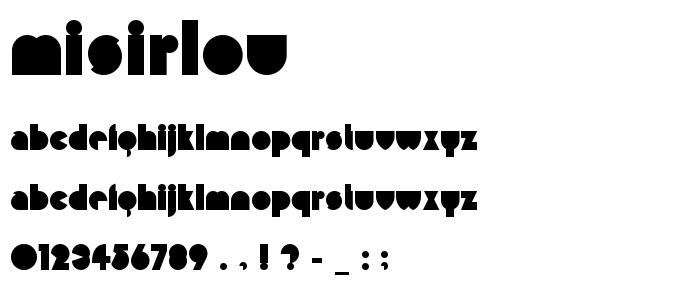 Misirlou font