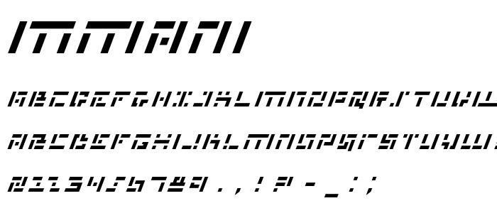 Mmani font