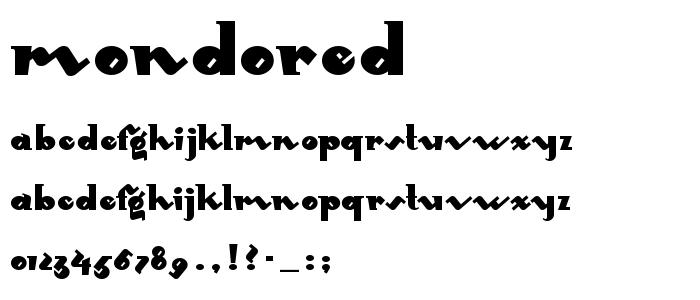 Mondored font