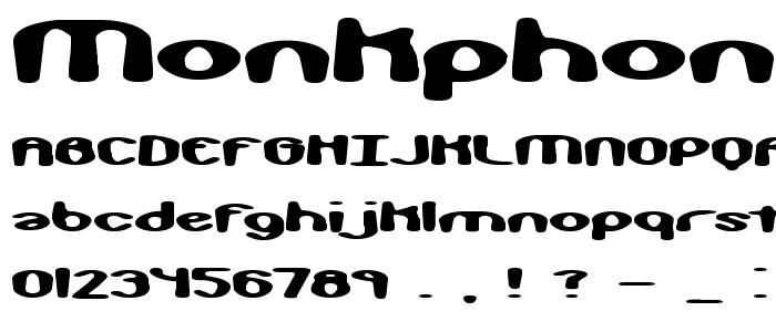Monkphon font