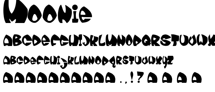 Moonie font