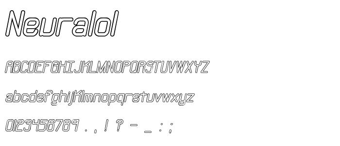 Neuralol font