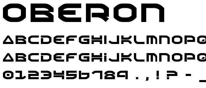 Oberon font