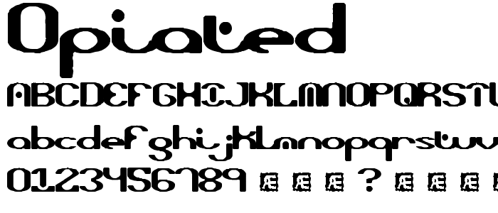 Opiated font