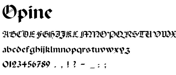 Opine font