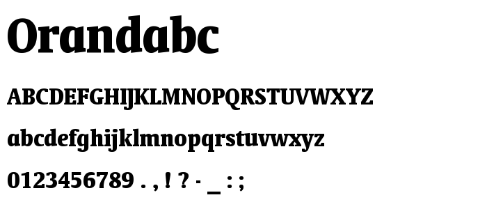 Orandabc font
