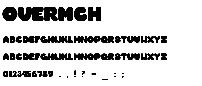 Overmch font