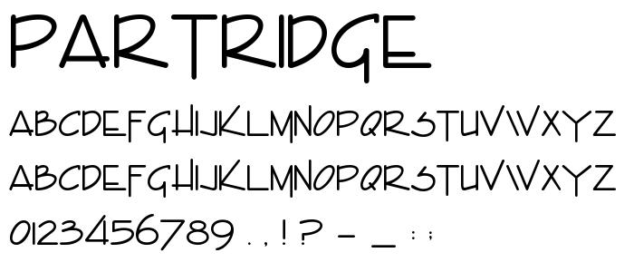 Partridge font