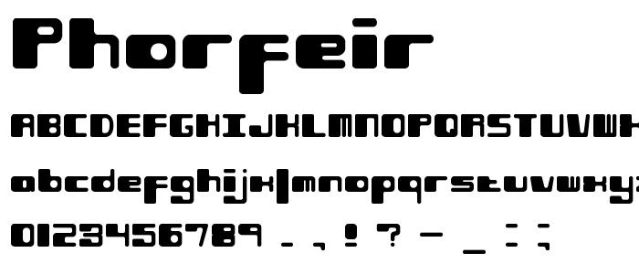 Phorfeir font