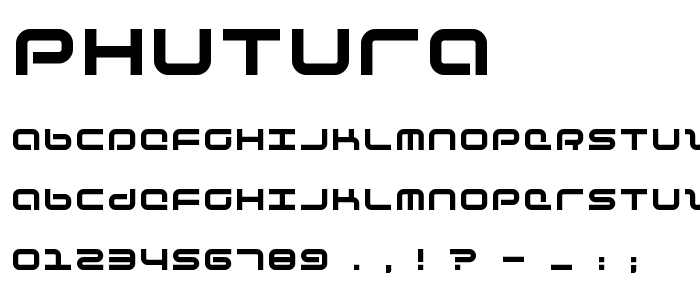 Phutura font