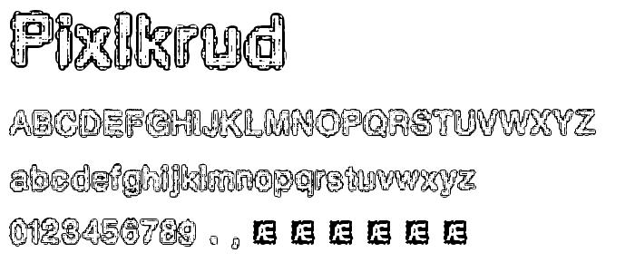 Pixlkrud font