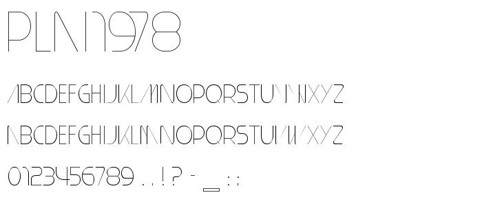 plai1978.ttf font
