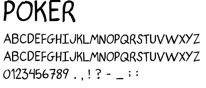 Poker font