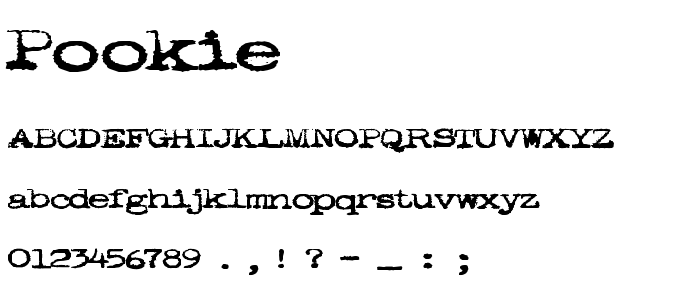 Pookie font