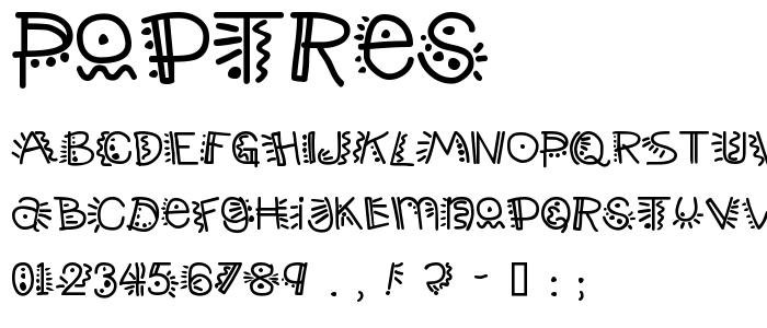 Poptres font
