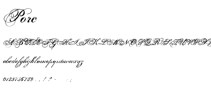 Porc font