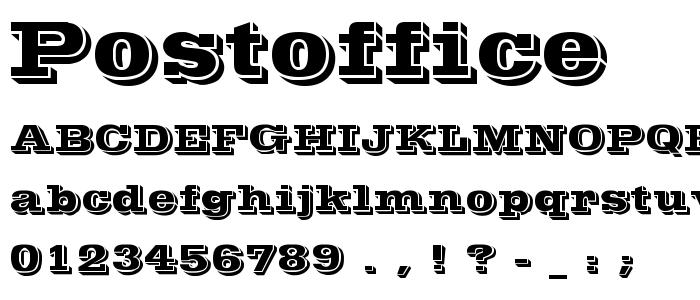 Postoffice font